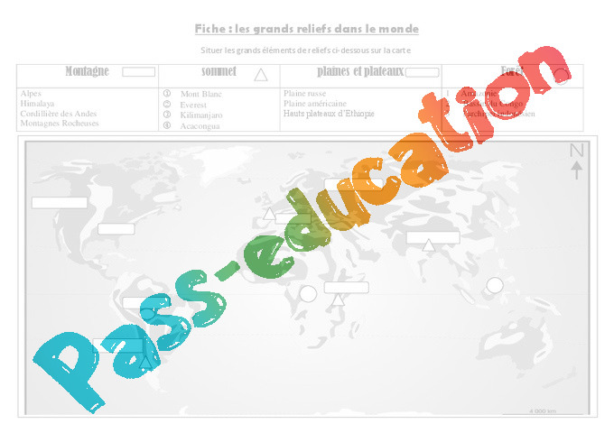Exercice De Geographie Carte Du Monde | My blog