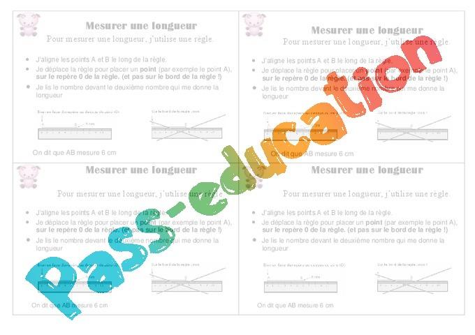 Mesurer une longueur cours le on 2eme primaire pass education - Regle pour mesurer ...