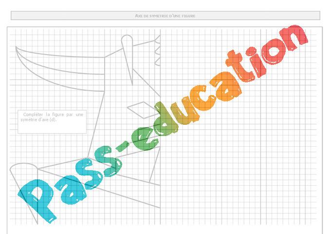 Bien-aimé Symétrie axiale - Exercices - Correction - Mathématiques : 6eme  FR22