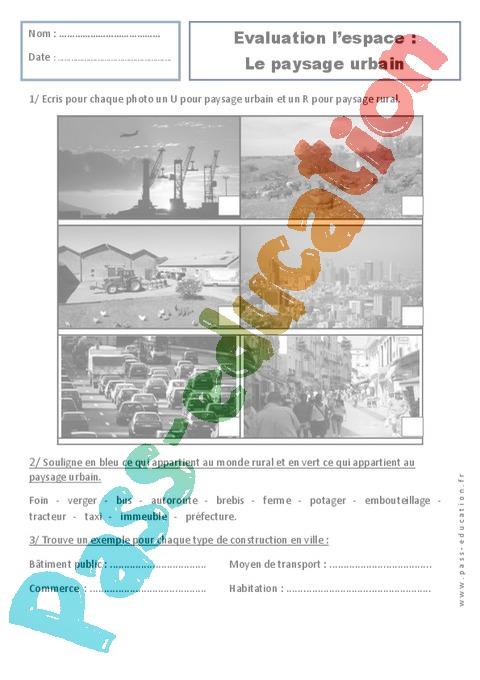 Paysages urbains examen evaluation espace 1ere for Les espaces verts urbains
