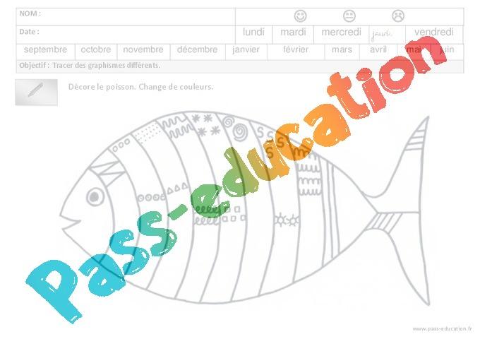 Bien connu Fiches pédagogiques - Exercices - Graphisme : 3eme Maternelle  LR35