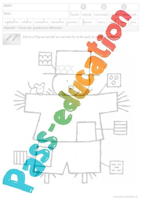 Fiche maternelle graphisme qg68 montrealeast - Exercice gs a imprimer ...