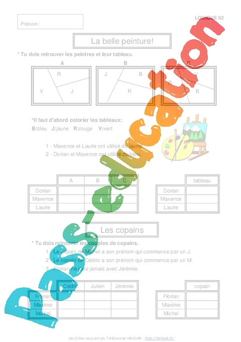 Célèbre Problèmes de logique - Exercices corrigés - Mathématiques : 3eme  UE18