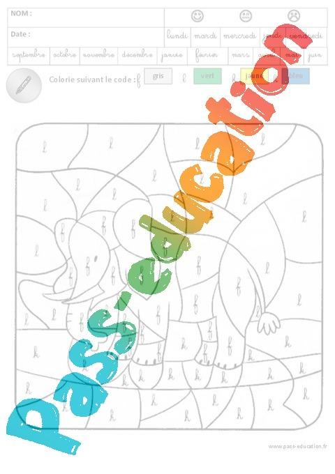 Coloriage magique lecture 3eme maternelle cycle - Coloriage magique son ...
