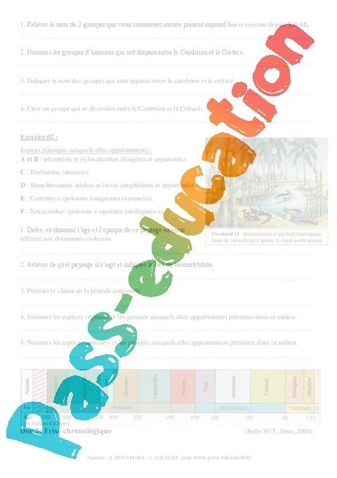 biologie 3eme secondaire