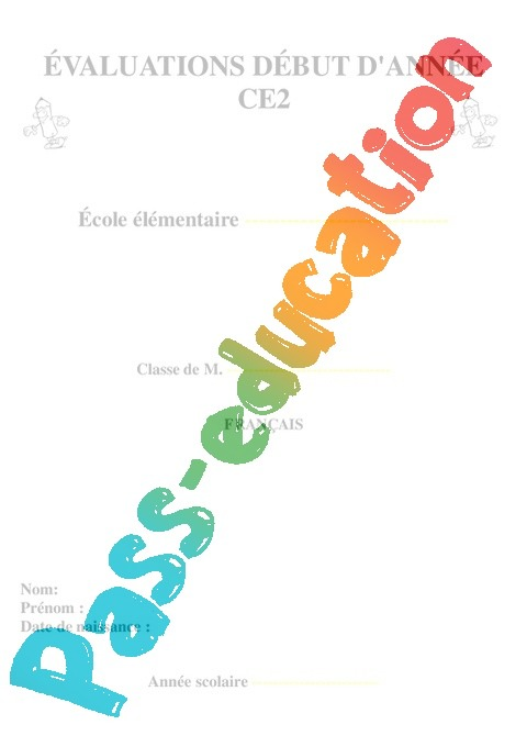 Evaluation Diagnostique Debut D Annee Francais 3eme