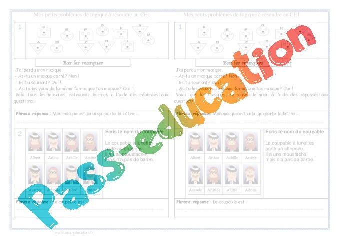Logique probl mes 2eme primaire pass education for Porte logique oui