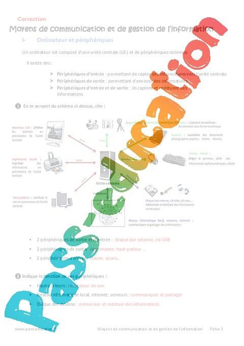Moyens de communication et de gestion de l'information ...