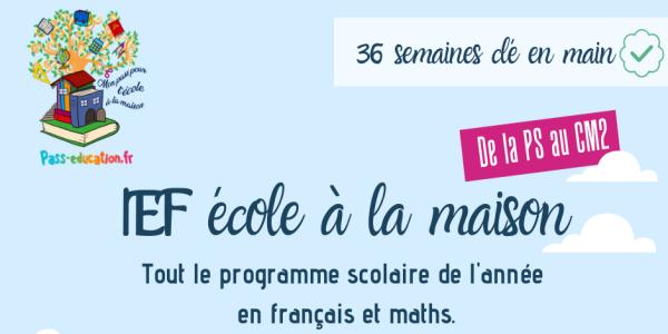 Ecole à la maison (IEF) - Pass Education