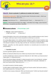 Who are you (3) - Anglais : 2eme Primaire