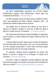 Neige - Défi maths - Enigmes mathématiques : 4eme Primaire