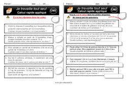 Exercices d'autonomie - Elève en répartition : 5eme Primaire