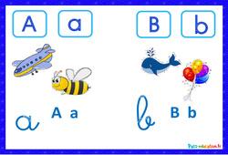 Abécédaire illustré en couleur - Affichages pour la classe : 1ere, 2eme, 3eme Maternelle, 1ere Primaire