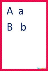 Lettres majuscules et minuscules cursive - Affiches de classe à imprimer : 2eme, 3eme Maternelle, 1ere Primaire
