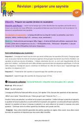 Séquence 1 - Préparer une saynète - Révision - Anglais : 1ere Primaire