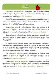Printemps - Défi maths - Enigmes mathématiques : 5eme Primaire