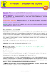 Séquence 1 - Préparation saynètes - révisions - Anglais : 2eme Primaire
