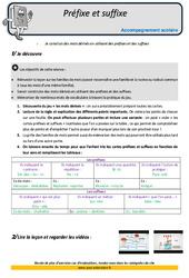 Préfixes et suffixes - Soutien scolaire - Aide aux devoirs : 5eme Primaire