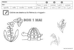 Coloriage - Muguet : 3eme Maternelle - Cycle Fondamental