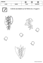 Coloriage - Muguet : 1ere Maternelle - Cycle Fondamental