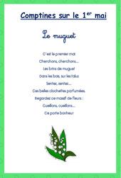 Comptines - Muguet : 1ere, 2eme, 3eme Maternelle - Cycle Fondamental