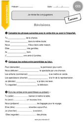 Révisons les conjugaisons - Exercices avec correction : 2eme Primaire