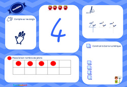 J'apprends à compter - Tableau : 2eme, 3eme Maternelle - Cycle Fondamental