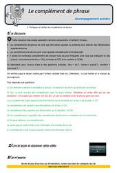Compléments de phrase - Soutien scolaire - Aide aux devoirs : 5eme Primaire
