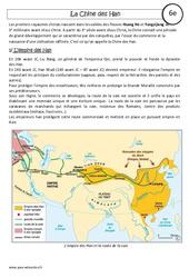 Chine des Han - Cours - Histoire : 6eme Primaire