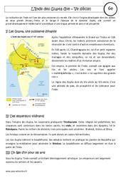 Inde des Gupta - Cours - Mondes lointains : 6eme Primaire