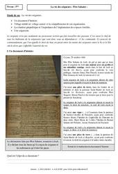 Vie des seigneurs - Etude de cas - Occident féodal : 1ere Secondaire