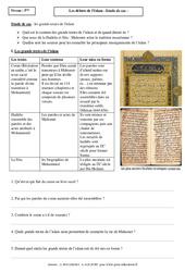 Les grands textes de l'islam - Etude de cas - Début de l'islam : 1ere Secondaire