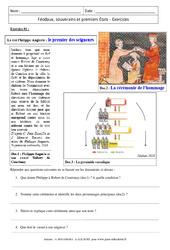 Féodaux, souverains et premiers États - Exercices corrigés : 1ere Secondaire