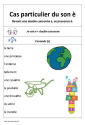 Son è devant 2 consonnes - Affiche pour la classe : 1ere, 2eme Primaire