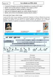 Colonies au XIXe siècle - Cours - Histoire : 2eme Secondaire