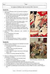 Les régimes totalitaires dans les années 1930 - Exercices corrigés : 3eme Secondaire