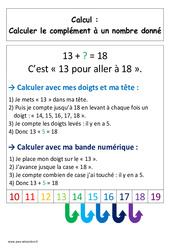 Calculer le complément - Affiche pour la classe - Calcul : 1ere Primaire