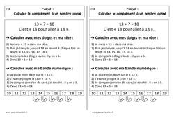 Calculer le complément à un nombre donné - Cours, Leçon : 1ere Primaire