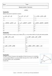 Synthèse - Exercices - Racines carrées : 3eme Secondaire