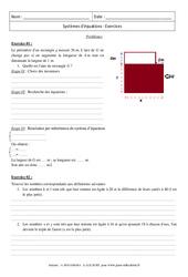 Problèmes - Système d'équation - Révisions : 3eme Secondaire