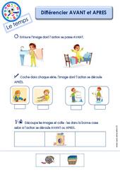 Différencier AVANT et APRES - Le Temps : 2eme Maternelle - Cycle Fondamental