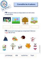 Connaître les 4 saisons - Le Temps : 3eme Maternelle - Cycle Fondamental
