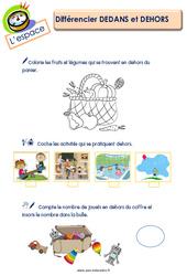 Différencier dedans et dehors - L'espace : 2eme Maternelle - Cycle Fondamental