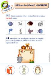 Différencier devant et derrière - L'espace : 3eme Maternelle - Cycle Fondamental