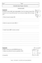 Sections de solides - Révisions : 3eme Secondaire