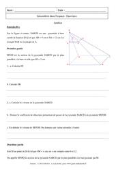 Sphères - Boules - Synthèse - Exercices : 3eme Secondaire