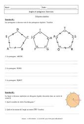 Polygones réguliers - Exercices : 3eme Secondaire