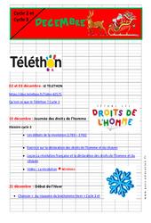 Noël - Dossier pédagogique : 2eme, 3eme, 4eme, 5eme Primaire