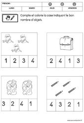 Mathématiques - Rentrée : 1ere Maternelle - Cycle Fondamental
