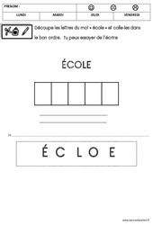 Ecriture - Rentrée : 1ere Maternelle - Cycle Fondamental